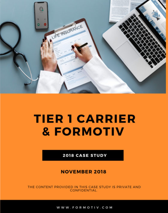 insurance carrier case study application conversions cx increase