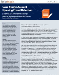case study account opening fraud detection